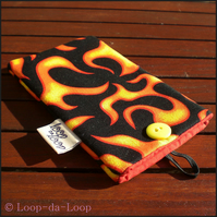 Flames mobile phone case (small)