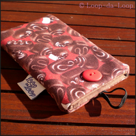 Red chocolates mobile pouch (small)