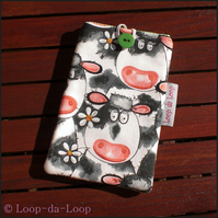 Cows mobile phone pouch (large)