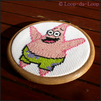 Patrick Starfish inspired mini cross stitch