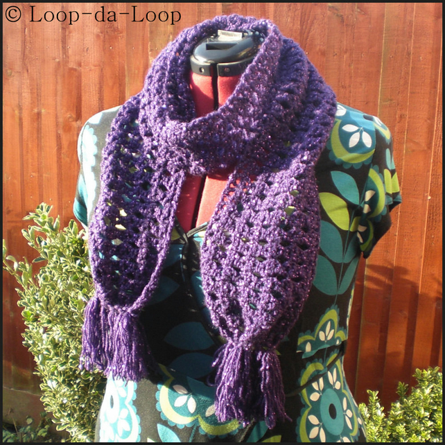 Sparkly purple scarf