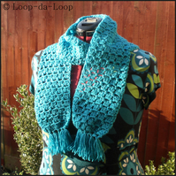 Sparkly turquoise scarf