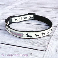 Doggy silhouettes dog collar