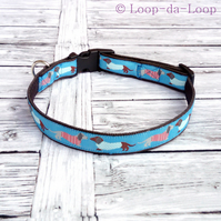 Kissing Dachshunds dog collar