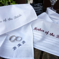 Personalised Embroidered Wedding Handkerchief
