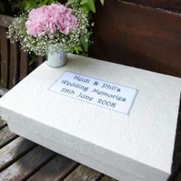 Personalised Embroidered Wedding Memory Box