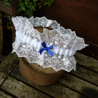 Vintage Lace Wedding Garter - size:Large