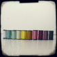 Sew a rainbow: 5x5 in square signed ttv photograph of sewing threads