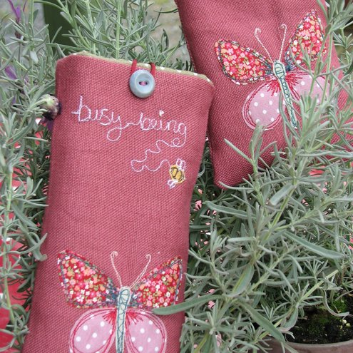 'Busy Being' Butterfly Glasses Case