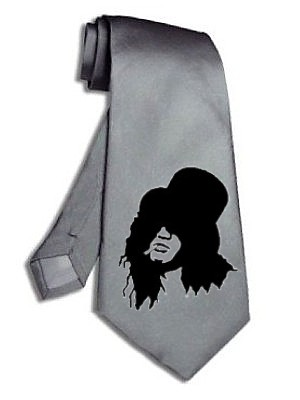 Slash guns and roses velvet revolver TIE satin silk silver gray necktie