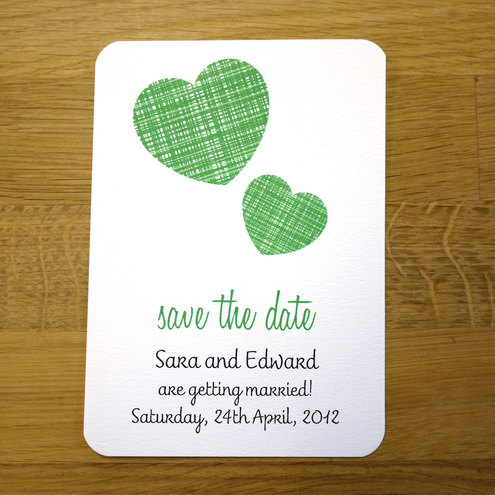WOVEN HEART  save the date x 50