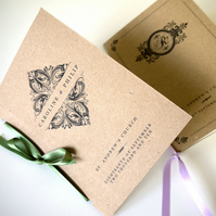 VINTAGE ORDER OF SERVICE - pocket-sized wedding program - SAMPLE ONLY