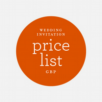 Price List - Wedding Invitations