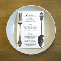 VINTAGE MENU - wedding or dinner party - SAMPLE ONLY