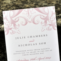Vintage Wedding Invitation - 'Victorian' Design - One Sample