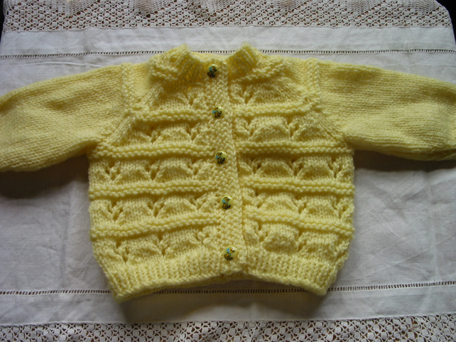 Pattern Bluebird Baby cardigan