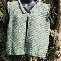 Pattern Ladies Knitted Waistcoat 'Sleat'