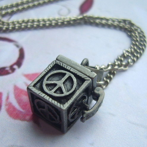 Antique Silver Wish Box Necklace