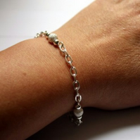 Sparkly Stardust Beaded Chain Bracelet