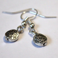 Tibetan Silver Bead Drop Earrings