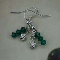 Little Star and Turquoise Swarovski Elements Crystal Earrings - RESERVED FOR TRISH