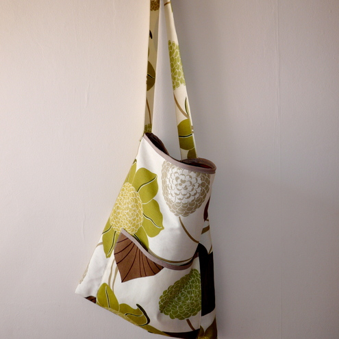 Funky Leaf Green & Burnt Orange shoulder Bag