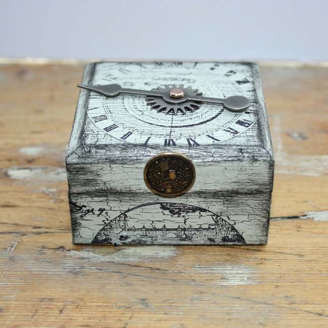 Steampunk Trinket Box or Cufflink Box