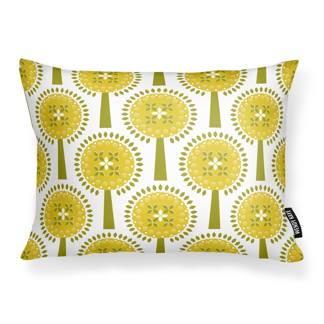 Ivy's Orchard - Yellow -      Cushion with Feather Filler