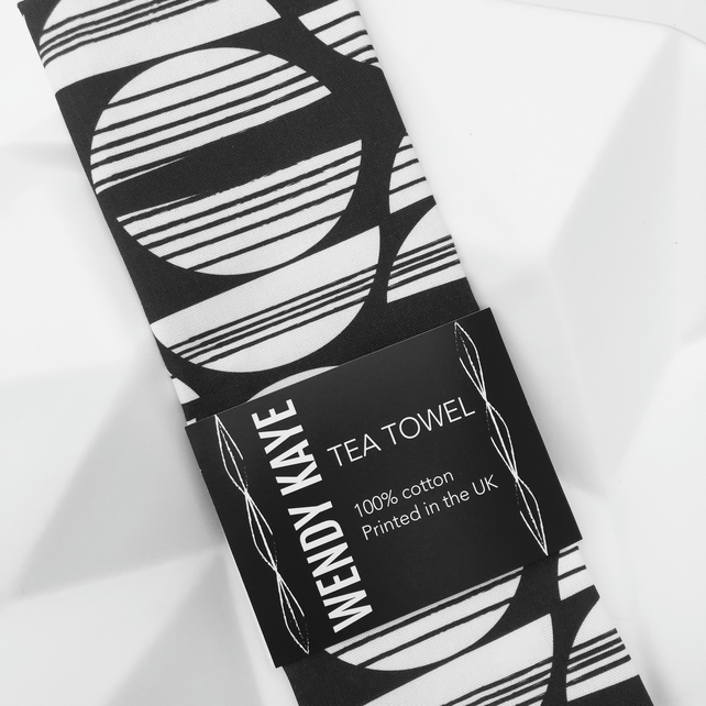 Spick & Span - Black - Tea Towel