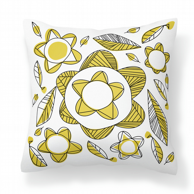 Meakin - Yellow -  Cushion with Feather Filler