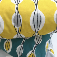 Fifties Abstract - Yellow -   20cm Handmade Lampshade