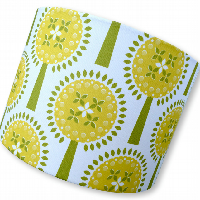 Ivy's Orchard - Yellow -      40cm Handmade Lampshade
