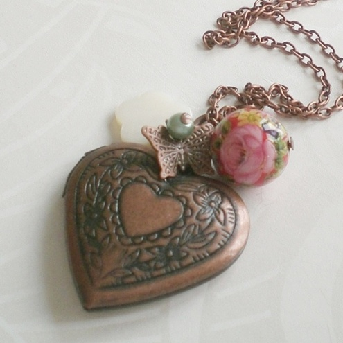 Forever in my heart locket necklace