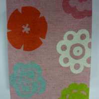 Pink Fabric Funky Flower Journal