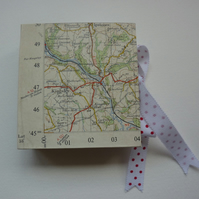 Chunky vintage map journal