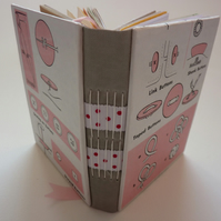 """Pink Buttons"" HANDMADE JOURNAL SPECIAL PACKAGE WITH FREEBIES!"