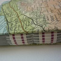 """Vintage Scotland Map"" HANDMADE JOURNAL SPECIAL PACKAGE WITH FREEBIES!"