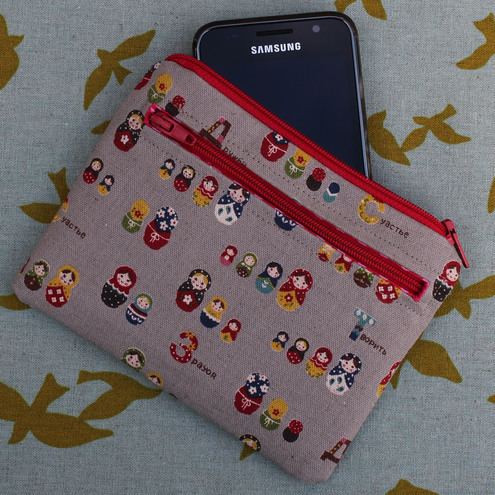 Credit card, coin & phone purse