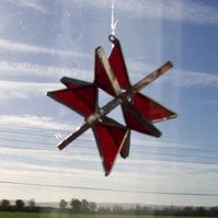 Stainedglass Red small 3D Star many colours to choose from