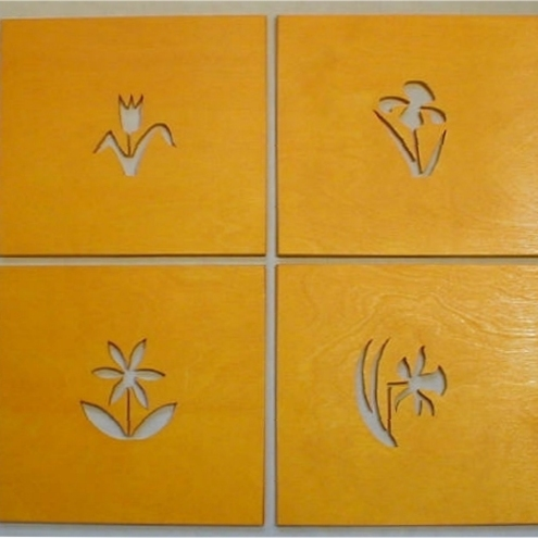 Set of 4 Flower Placemats
