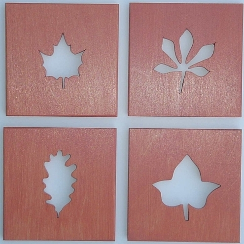 Set of 4 Leaf Coasters