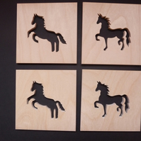 Set of 4 Horse Coasters