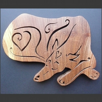 Sleeping Greyhound trivet