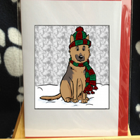 Alsatian Christmas card