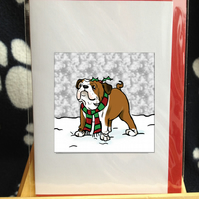 Bulldog Christmas card