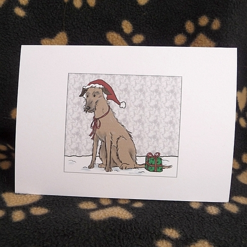 Lurcher Christmas Card