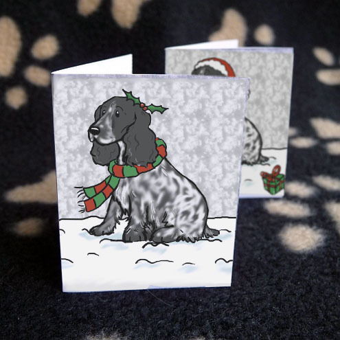 Set of 6 Cocker Spaniel Christmas labels