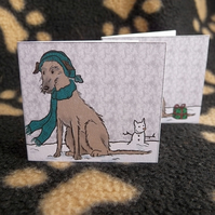 Set of 6 Lurcher Christmas labels