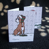 Set of 6 Boxer Christmas labels