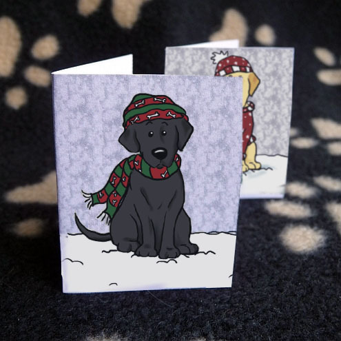 Set of 6 Labrador Christmas labels